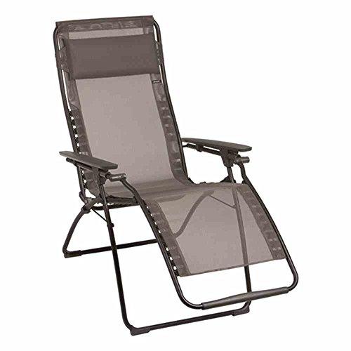 Lafuma-LFM3082-7660-Relax-Liegestuhl-klappbar-und-verstellbar-Futura-XL-grau