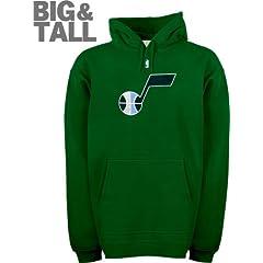 Utah Jazz Big & Tall Primary Logo Fleece Hooded Sweatshirt by Majestic