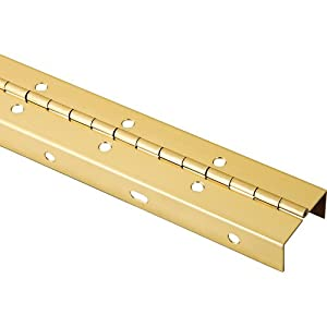 Rockler Full Wrap-Around Piano Hinge, Brass Plated - Cabinet And