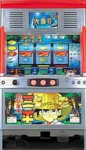 釣キチ三平R 【中古パチスロ実機/オートコイン不要装置セット】家庭用電源OK!