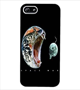 ColourCraft Funny Image Design Back Case Cover for APPLE IPHONE 5S