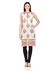 Biba Women's Straight Kurta (ASSORTED DROP 3 # 10177_PINK_42)