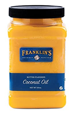 Butter Flavored Coconut Oil by Franklin's Gourmet Popcorn. 30 oz Tub.