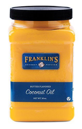 Butter Flavored Coconut Oil by Franklin's Gourmet Popcorn. 30 oz Tub. (Coconut Butter For Popcorn compare prices)