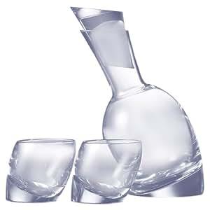 Nambé Tilt Decanter Set with 2 Double Old-Fashioned Glasses