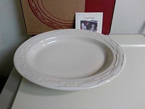 Longaberger Pottery Ivory Oval Serving Platter Bowl Dish Made In USA Vitrified (Longaberger Dishes compare prices)