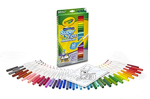 Crayola 50ct Washable Super Tips JungleDealsBlog.com