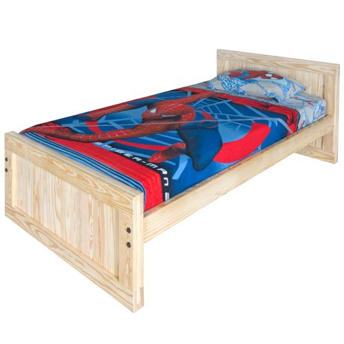 Kids Captains Bed- Twin Size - Tall Headboard And Low Footboard With Trundle Option Solid Wood
