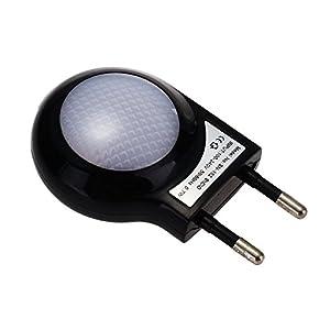 CroLED Lámpara Nocturna LED Sensor Luz Blanco 0.7W ABS AC220-240V con Enchufe de ptesktmall