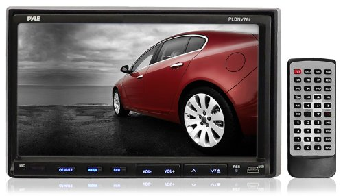 Pyle Pldnv78i 7-Inch Double-Din Touchscreen Lcd Monitor with Dvd/Cd/Mp3/Mp4/Usb/Sd/Amfm/Rds/Bluetooth and Gps
