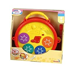Simba Play and Learn B/O Baby Musical Drum, Multi Color