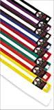 ND Sports Karate Belt Two Colour Junior 240cm - Yellow