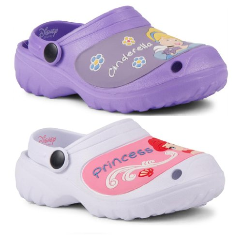 New Kids Girls Official Disney Princess Clogs Cinderella Little Mermaid Shoes