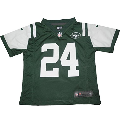 Nfl New York Jets Revis #24 Boys Athletic Short Sleeve Jersey M(5-6) Green front-1006567
