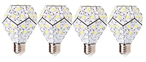 NanoLeaf NL1800WL120V4PK 360 12W Exclusive 1800Lm  LED Light Bulb, White with Leaf, 4-Pack