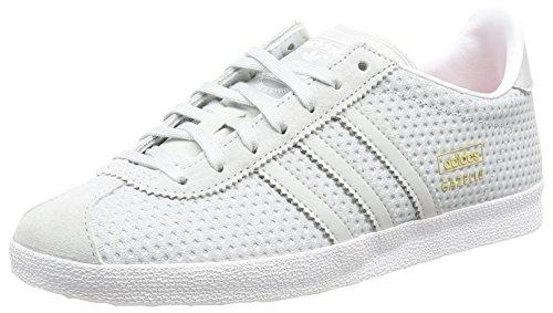 Adidas Gazelle Og - Scarpe Running Donna, Grigio (Clear Grey/Clear Grey/Lush PinkClear Grey/Clear Grey/Lush Pink), 39 1/3 EU