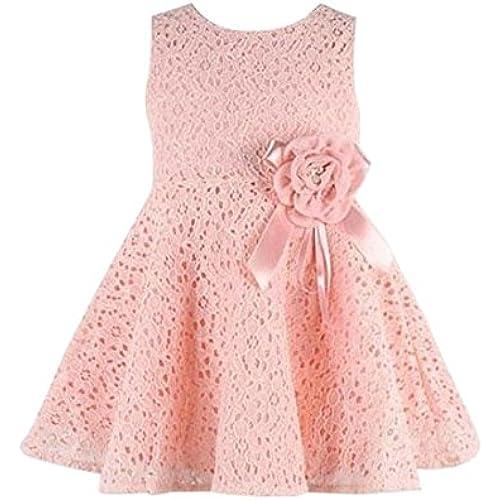 Tonsee 걸즈 원피스 아동복면 레이스 유연함(부드러움)인지(든가) 내의 노슬리브 꽃무늬 프린세스 드레스 파티 드레스