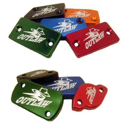 Outlaw Racing Billet Front Brake Cap Red Yamaha YZ125 YZ250 01 - 07