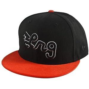 LRG Core Collection Script Men's Fitted Casual Hat/Cap - Orange / Size 7 1/2