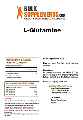 BulkSupplements Pure L-Glutamine Capsules - 750mg