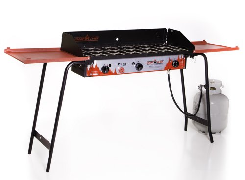 Camp Chef Professional Series Gb-90D Pro 90 Deluxe 3 Burner Modular Cooking System, Black/Red