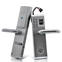 Aegis Biometric Fingerprint Door Lock - Deadbolt, Right Handed Installation