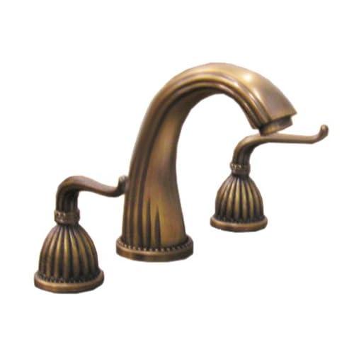 Antique Solid Brass Bathroom Faucet 8 Widespread 2 Handle Kf605