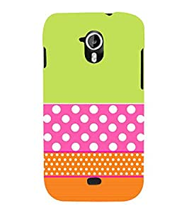 Green Pink Orange Pattern 3D Hard Polycarbonate Designer Back Case Cover for Micromax Canvas HD A116 :: Micromax Canvas HD Plus A116Q
