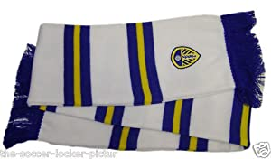 leeds united fc official product woven home bar scarf