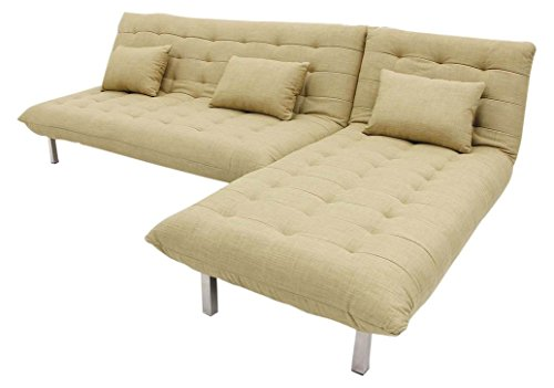 FabHomeDecor Designer Five Seater L-Shaped sofa ( Biege)