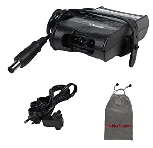 Bundle: 3 items - Adapter/Power Cord/Carry Bag:Dell 19.5V 3.34A 65W 7.4mm/1Pin Replacement AC Power Adapter for Dell Hybrid: XPS 13 (M1340),Precision: M2300,M2400,M4400,M6300,100% Compatible with PA-12 Family,***Carry Pouch Included***