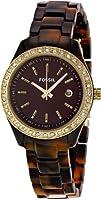 Fossil Womens ES2922 Stella Brown Dial Watch