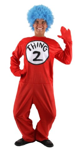 elope Deluxe Thing 1/2 Costume, Red, Large/X-Large