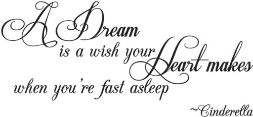Wall Quotes about Following Your Dreams : Funk This HouseA Dream Is A Wish Your Heart Makes
