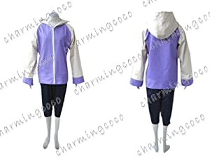 Naruto Shippuden Hinata Hyuga Cosplay Costume Jacket Pants (Female XS)