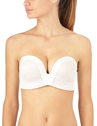 Wonderbra Perfect - Soutien-gorge - Bandeau - Femme - Écru (Ivory/Skin) - 90H (Taille fabricant: 34FF)