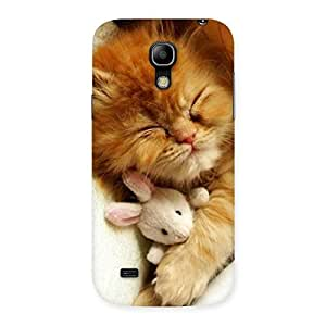 Delighted Sleeping Cat with Bunny Multicolor Back Case Cover for Galaxy S4 Mini