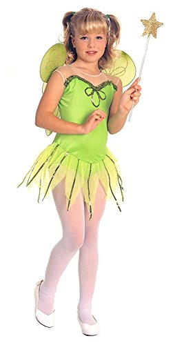 Rubies Halloween Big Girls Forest Pixie Fairy Costume Green Medium 5-7