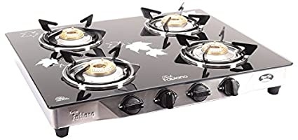 Stainless Steel and Glass Cooktop (4 Burner)