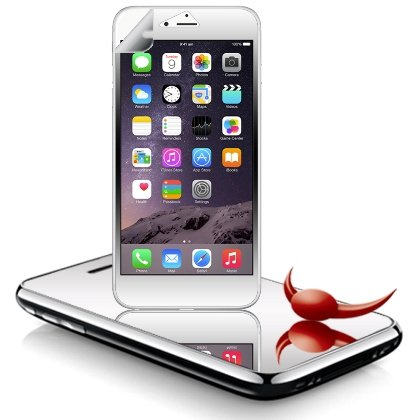 Cell Accessories For Less (Tm) **Pda**For Apple Iphone 6 Plus 5.5 Inch Lcd Screen Protector, Mirror + Bundle (Stylus & Micro Cleaning Cloth) - By Thetargetbuys
