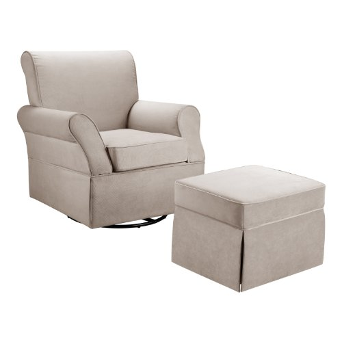 Dorel Asia Swivel Glider and Ottoman, Comet Doe