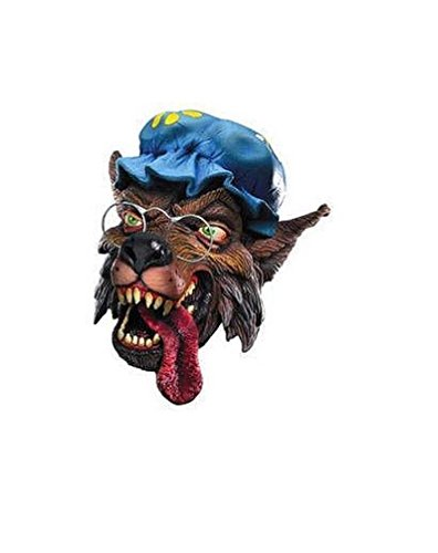 Popcandy Big Bad Wolf-Adult Super Deluxe Latex Mask (Big Bad Wolf Makeup)