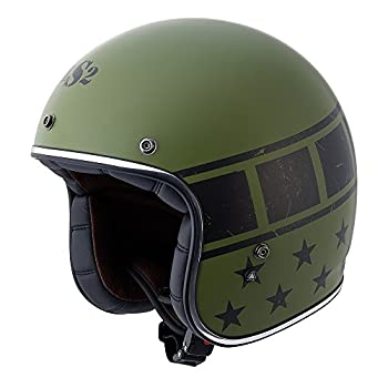 LS2 Kurt Military Bobber Motorcycle Helmet (Green, XX-Large)
