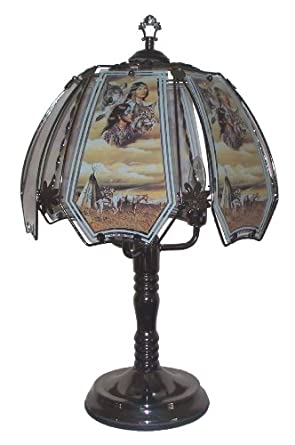 Native American Indian Scene Touch Lamp - Table Lamps - Amazon.com