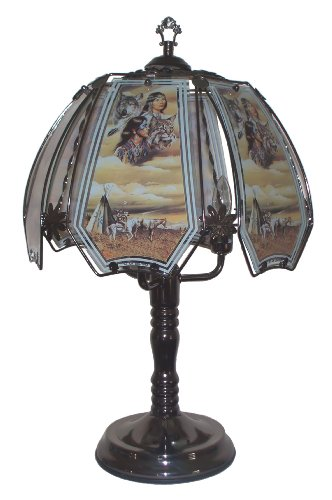 Native American Indian Scene Touch Lamp front-186786