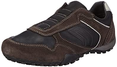 Geox U SNAKE J U3407J04322C9355, Herren Sneaker, Schwarz (BLACK/MUD C9355), EU 40