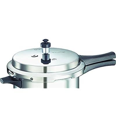 General AUX Global Pressure Cooker Induction Base Bottom Aluminium 5 Ltr