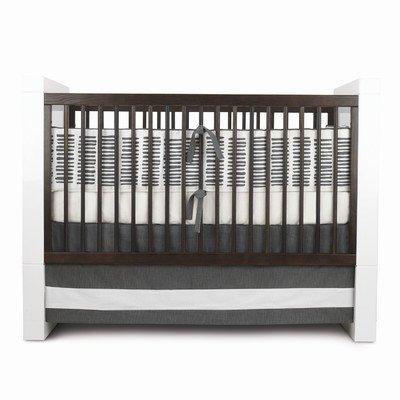 Oilo Sticks Standard Crib Set, Pewter front-1056093