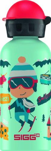 Sigg Travel Boy Switzerland Water Bottle, 0.4-Liter, Aqua front-755740