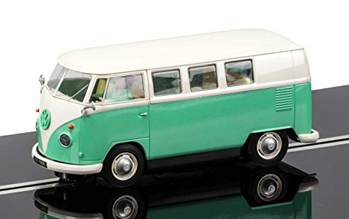Scalextric-C3760-Volkswagen-Bus-Two-Tone-Green-White-Slot-Car-132-Scale